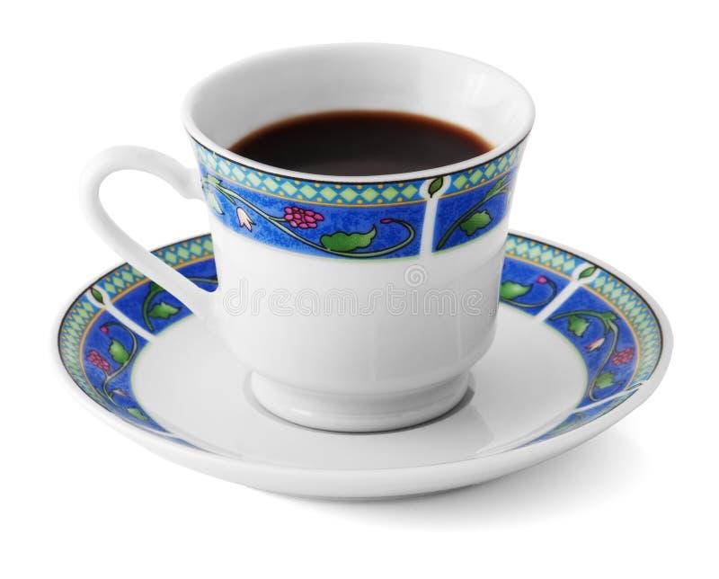 Download Acima Do Café Em Uma Placa Colorida Isolada No Branco Foto de Stock - Imagem de java, copo: 12803592