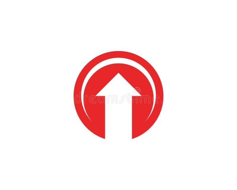 Acima do logotipo do ícone da seta ilustração royalty free