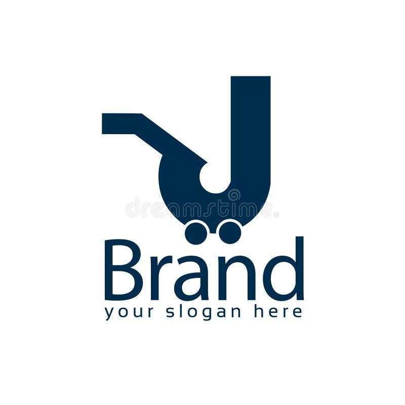 Acima do molde do logotipo do estoque do mercado logotipo liso editable Vetor ilustração royalty free
