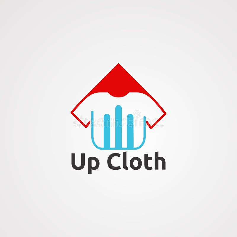 Acima do vetor, do ícone, do elemento, e do molde do logotipo de pano para a empresa ilustração royalty free