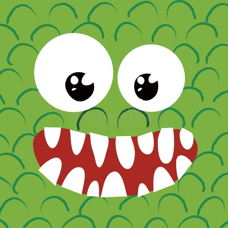 Acima-feliz próximo do monstro ilustração stock