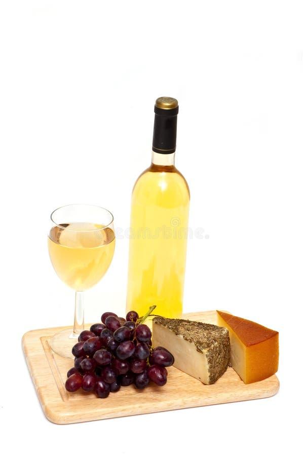 Acini d'uva e formaggio fotografie stock libere da diritti