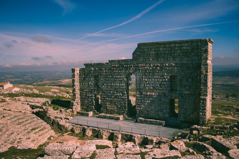 Acinipo, Espanha Cidade romana, local arqueológico fotografia de stock