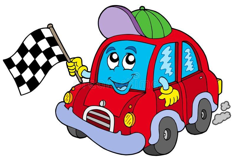 Acionador de partida da raça de carro ilustração royalty free