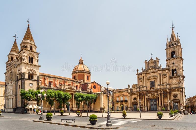 Acireale - catedral fotografia de stock royalty free