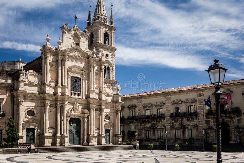 Acireale, a catedral imagem de stock royalty free