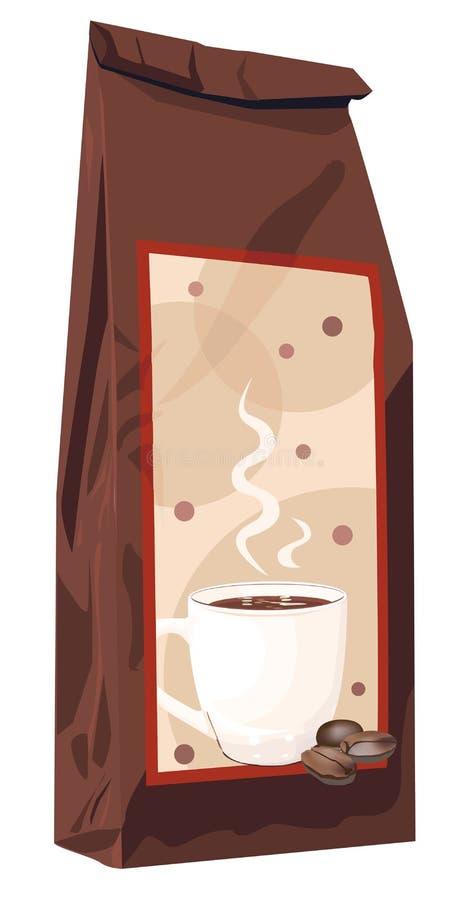 ?ackage del café de la élite stock de ilustración