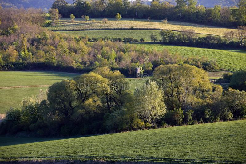 Ackerland in Nieder?sterreich, Weinviertel lizenzfreies stockfoto