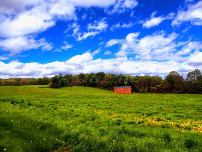 Ackerland in Simsbury Connecticut stockfotos