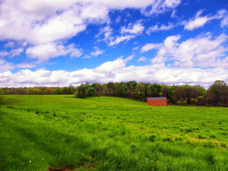 Ackerland in Simsbury Connecticut lizenzfreie stockfotografie
