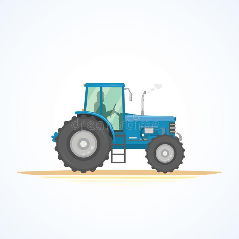 Ackerschlepperikonen-Vektorillustration Schwere landwirtschaftliche Maschinerie für praktische Arbeit vektor abbildung