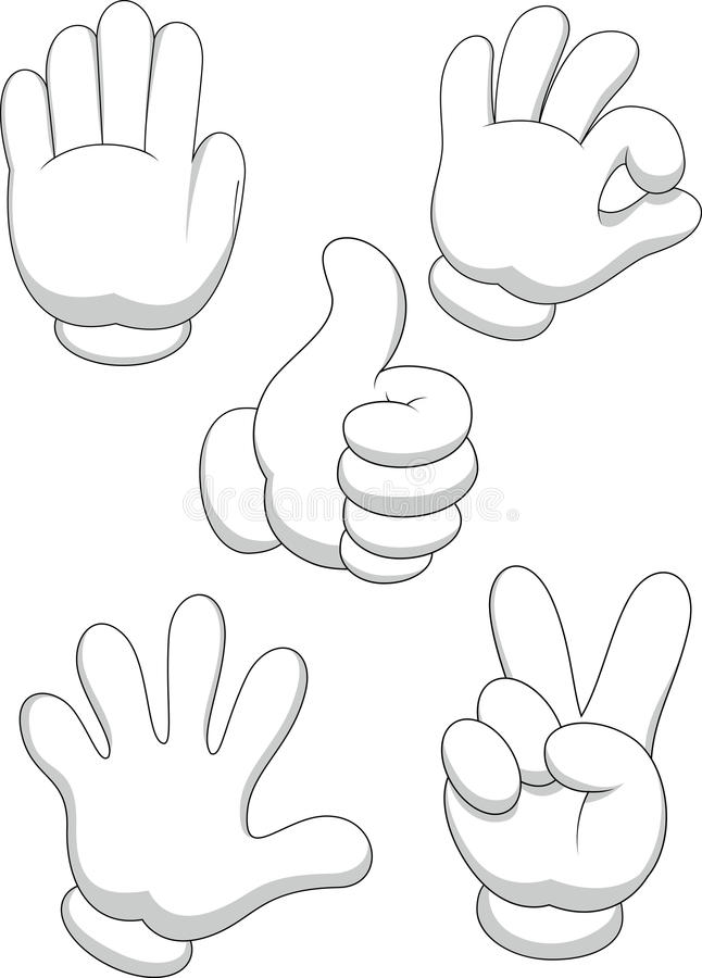 Acktivity dos desenhos animados do sinal da mão ilustração royalty free