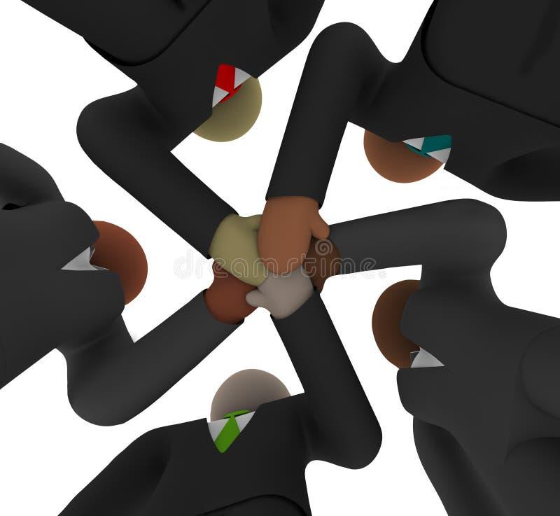 Aclamación - personas diversas del asunto de debajo stock de ilustración