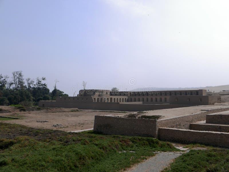 Acllawasi tempel i Pachacamac, söder av Lima royaltyfria foton