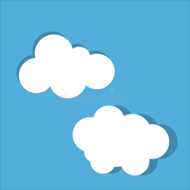 Cloud vector icon set royalty free illustration