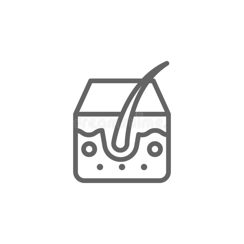Acn?, espinilla, icono de la piel Elemento del icono del cuidado de piel L?nea fina icono para el dise?o y el desarrollo, desarro ilustración del vector