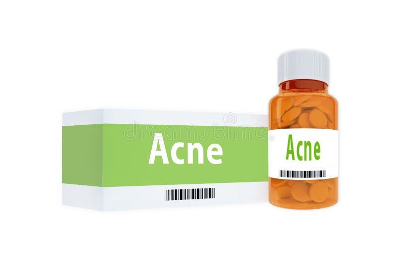 Acne - concetto medico illustrazione di stock