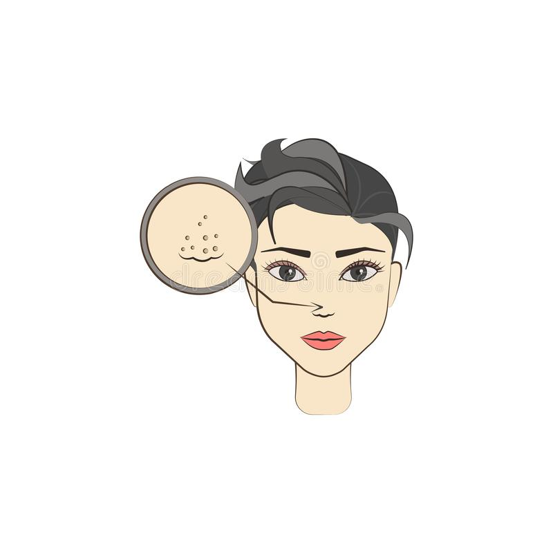 acne die gekleurd pictogram reinigen Element van schoonheid en anti het verouderen pictogram voor mobiel concept en Web apps Kan  vector illustratie