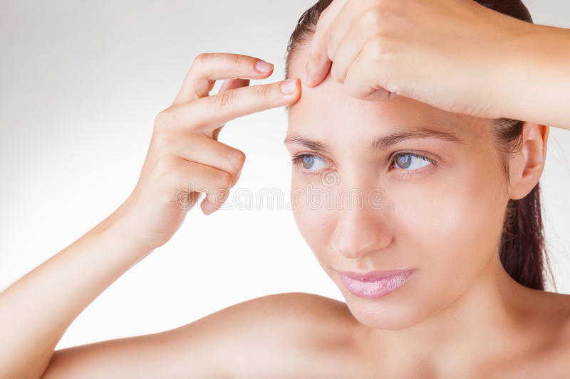 Download Acne is a girl stock image. Image of clean, attractiveness - 33183533