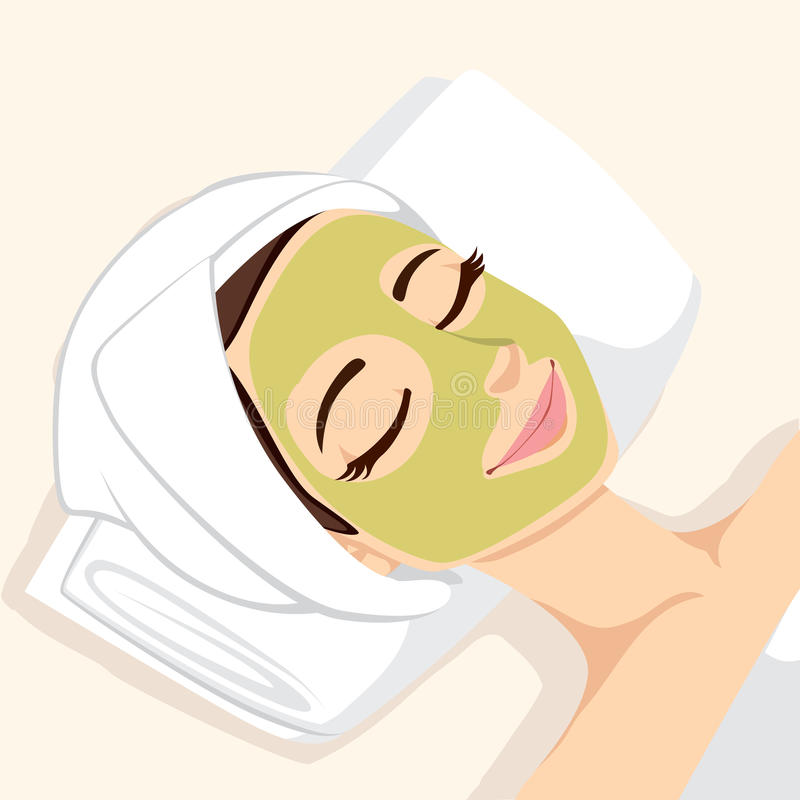 Acne Treatment Facial Mask stock vector  Illustration of
