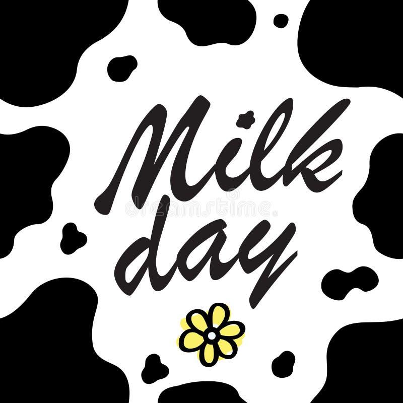 Acobarde o teste padrão da textura repetiu o dia animal sem emenda do leite da pele da pele do ponto da cópia da selva do chocola ilustração do vetor