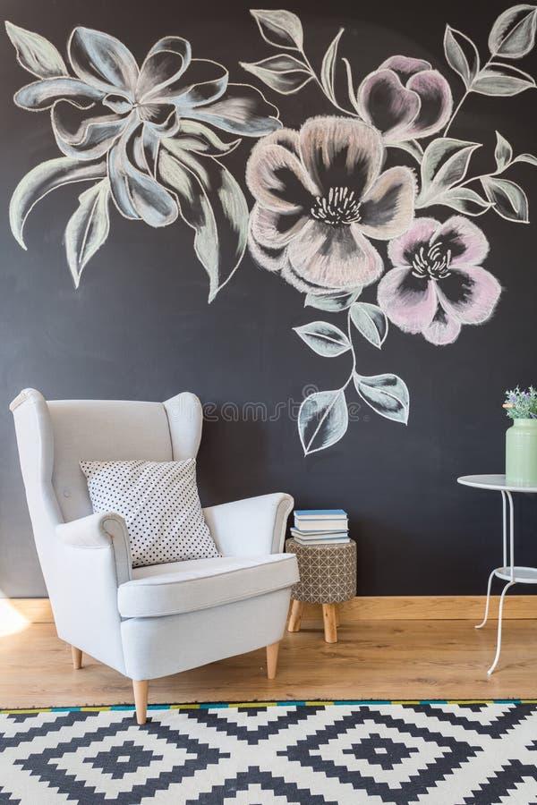 Acolhedor relaxe o espaço na sala de estar fotografia de stock royalty free
