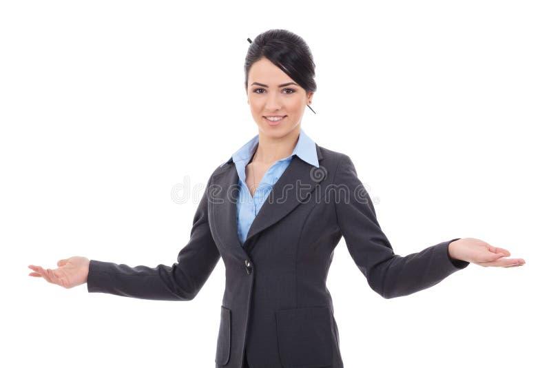 Acolhimento da mulher de negócio imagens de stock royalty free