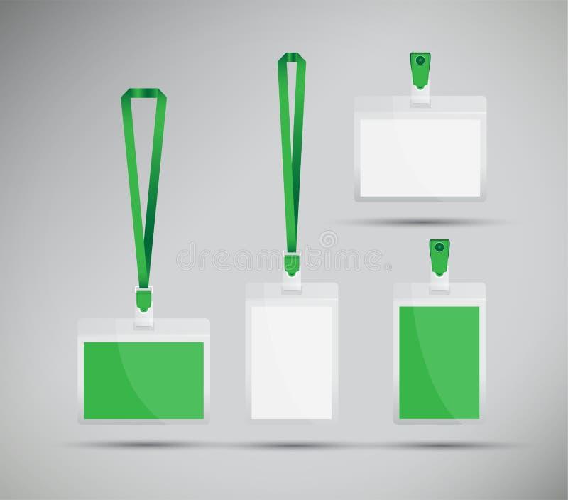 Acollador verde stock de ilustración