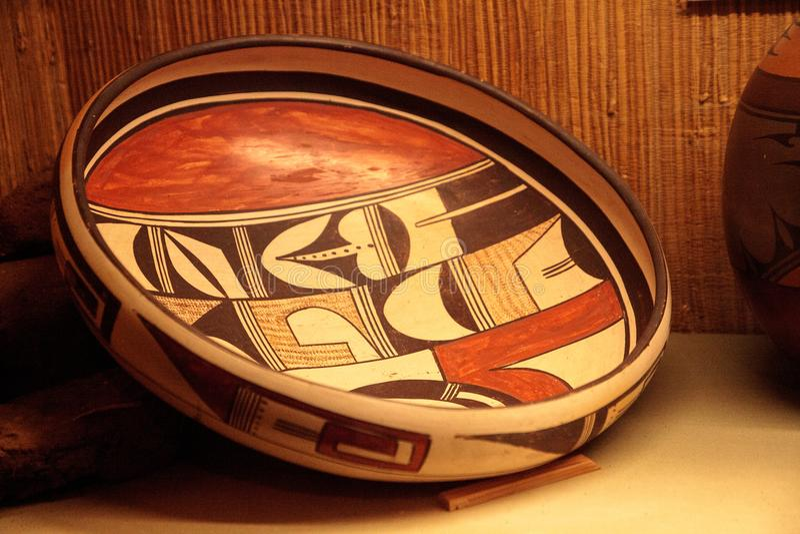 Acoma镇从新墨西哥的美国本地人艺术 免版税库存图片