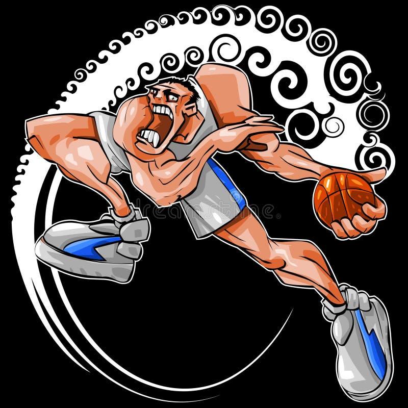 Acometida de NBA ilustración del vector