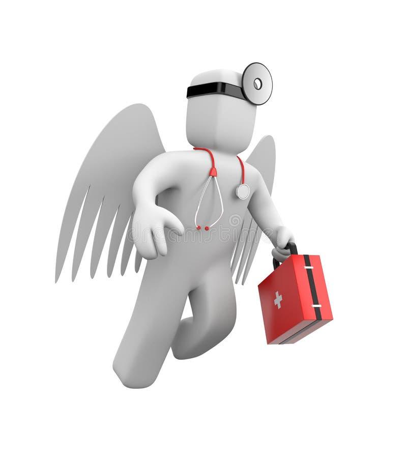 Acometida del médico a la ayuda stock de ilustración