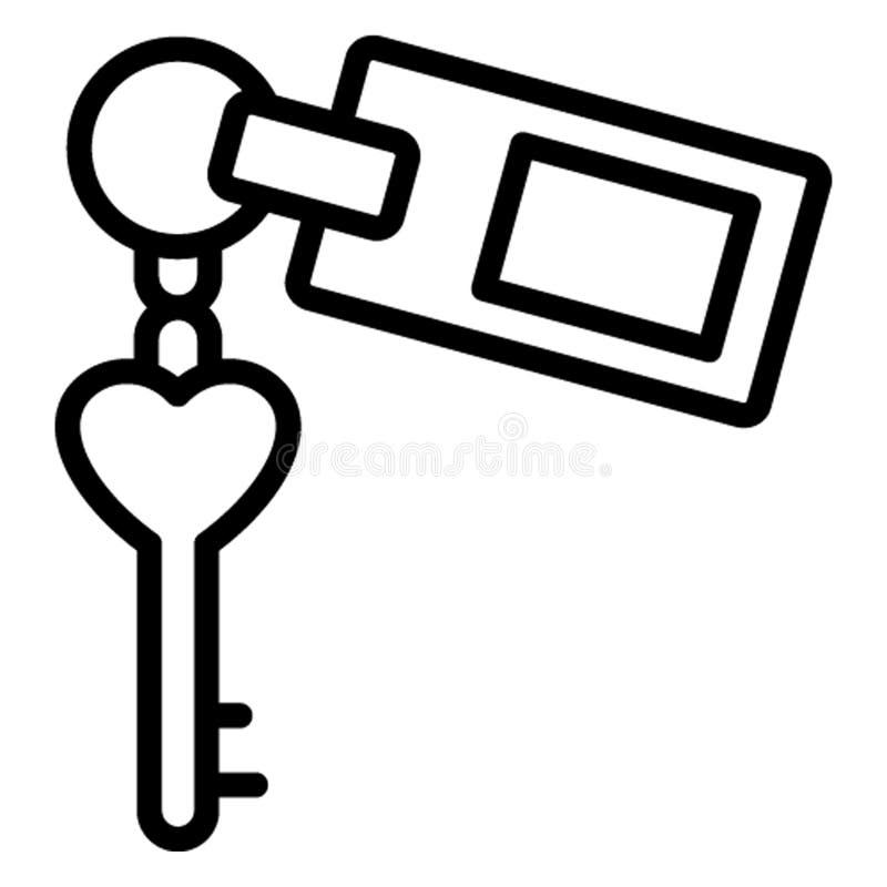 Acomodação, ícone do vetor da chave do hotel que pode facilmente editar ilustração royalty free