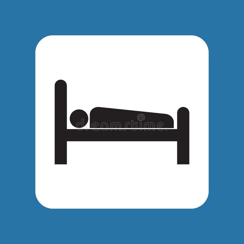 Acomodação lisa do ícone ilustração royalty free