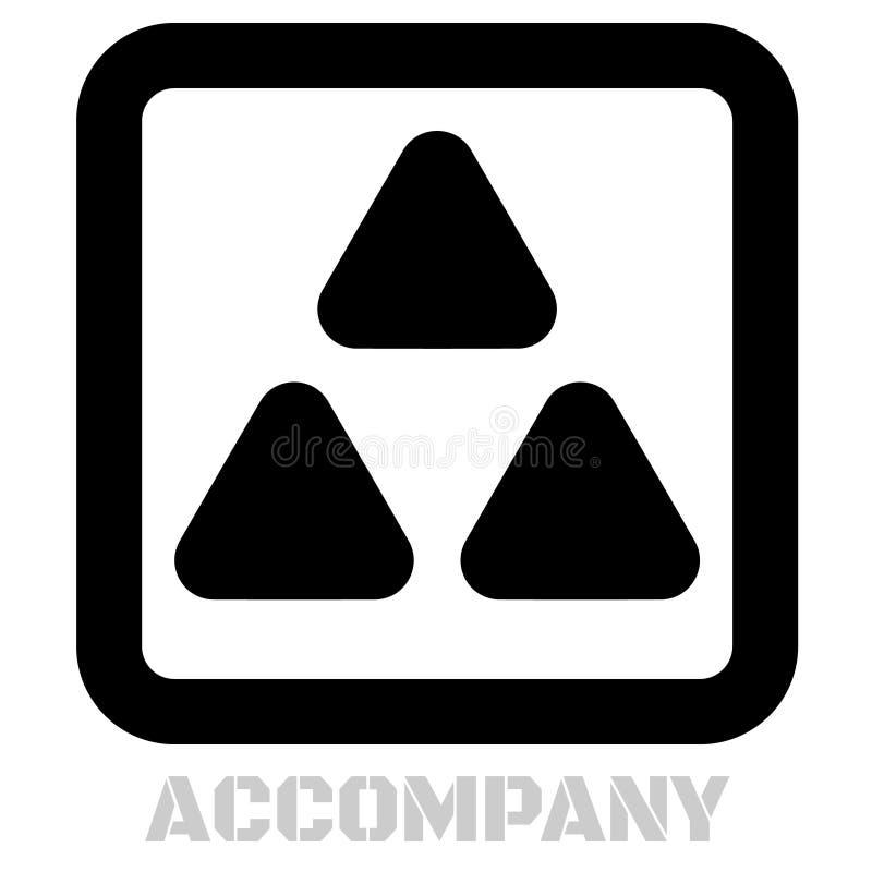 Acompañe el icono gráfico conceptual ilustración del vector