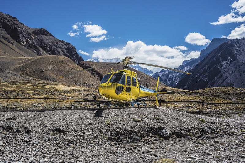 Aconcagua, nas montanhas de Andes em Mendoza, Argentina imagens de stock royalty free