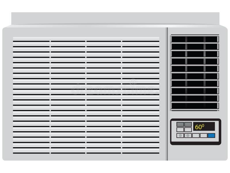 Acondicionador de aire del hogar stock de ilustración