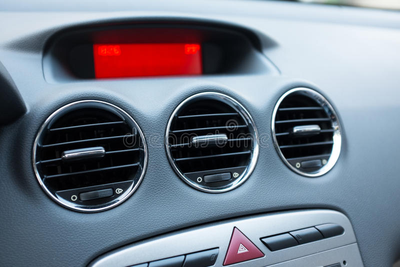 Acondicionador de aire en coche imágenes de archivo libres de regalías