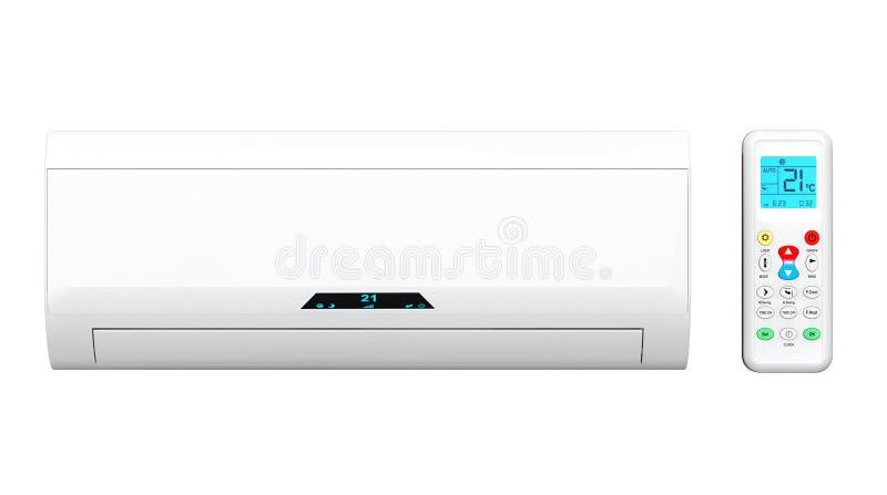 Acondicionador de aire moderno con el telecontrol imagen de archivo