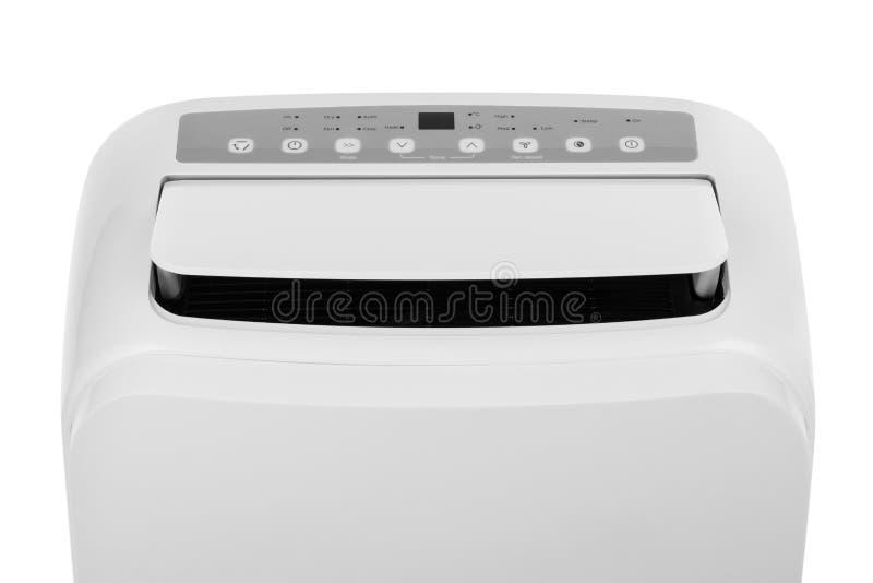 Acondicionador de aire o deshumidificador portátil aislado en el fondo blanco imagenes de archivo