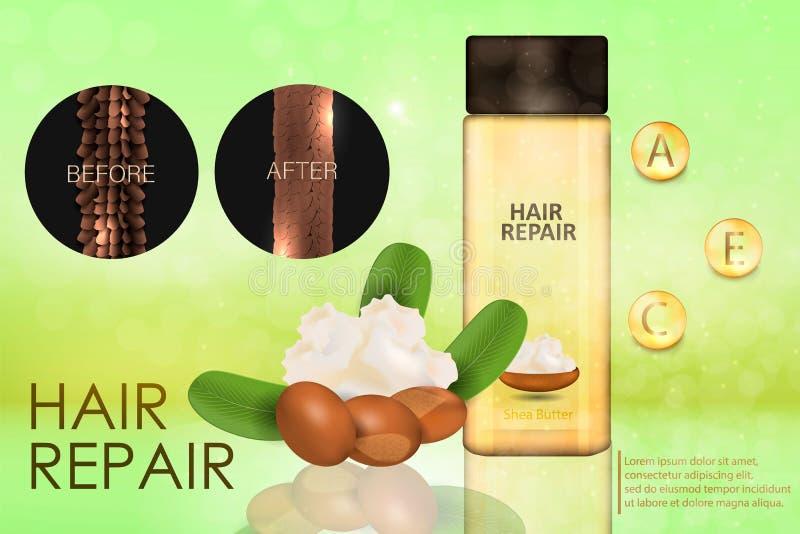 Acondicionador de pelo con mantequilla de mandingo stock de ilustración