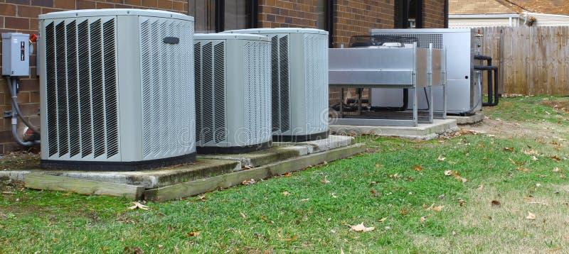 acondicionadores de aire industriales foto de archivo libre de regalías