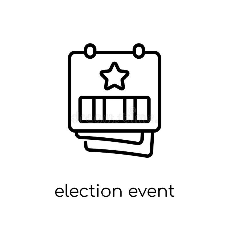 Acontecimiento de la elección en un calendario con el icono de la estrella del colle político stock de ilustración
