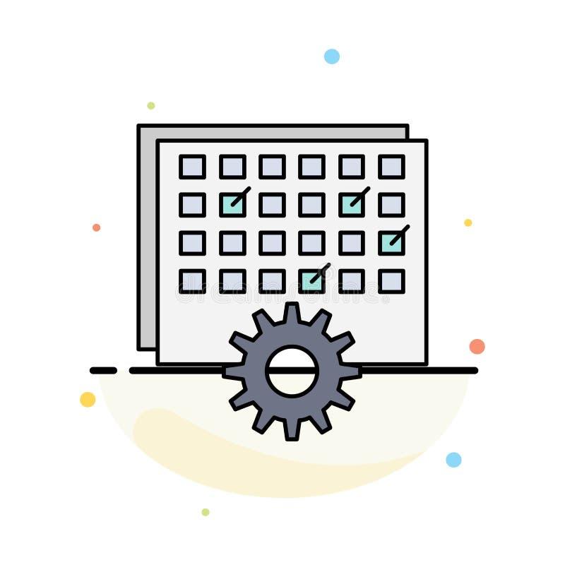 Acontecimiento, gestión, procesando, horario, vector plano del icono del color de la sincronización libre illustration