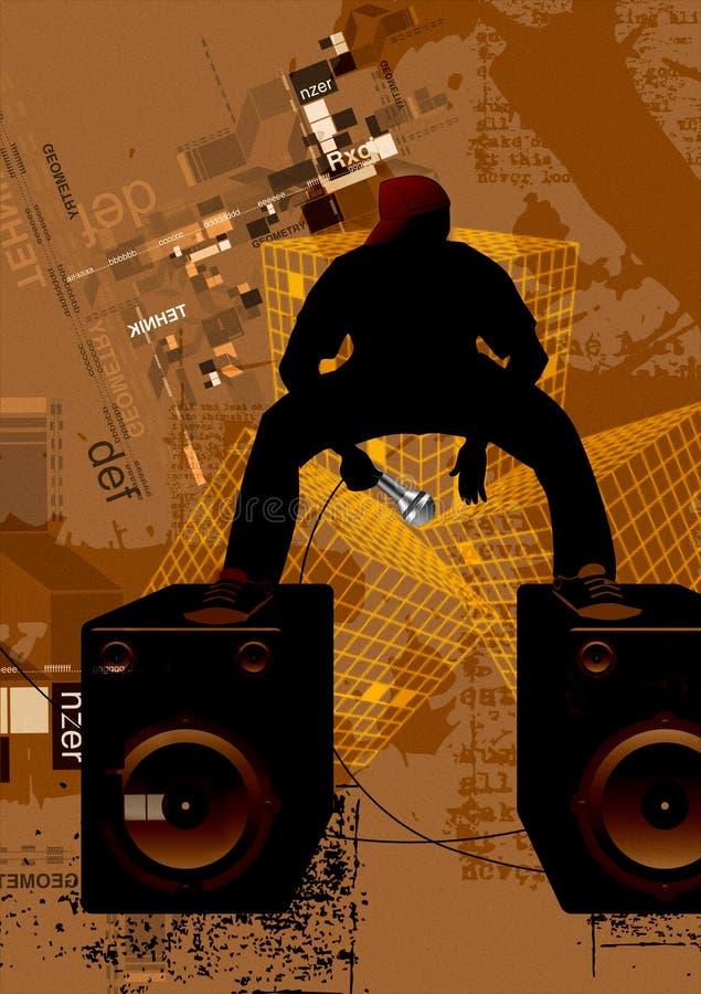 Acontecimientos de la música electrónica ilustración del vector
