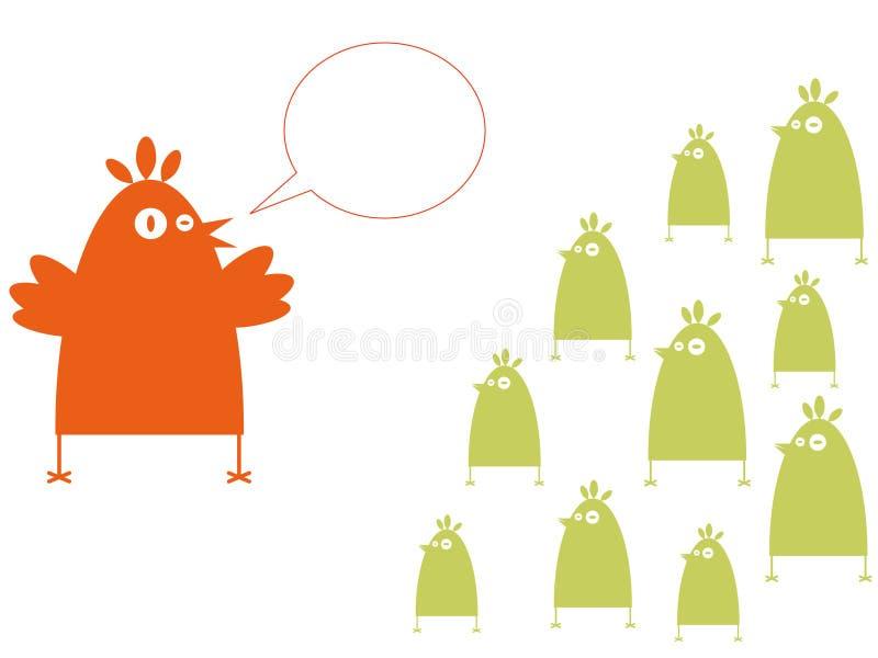 Acopio de los pájaros ilustración del vector