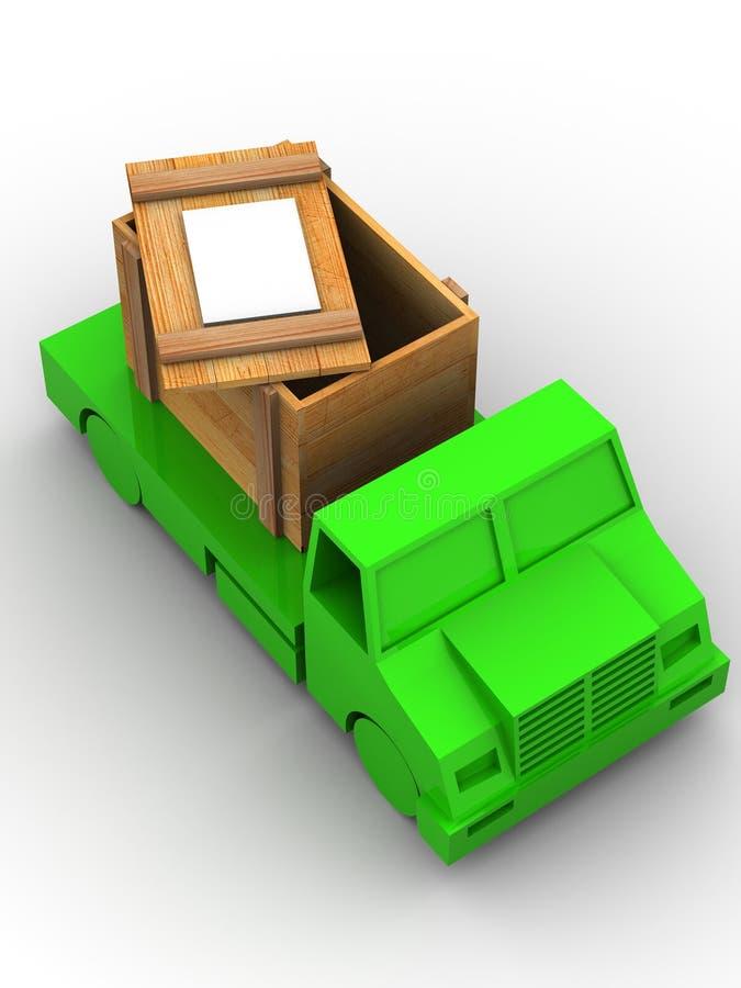 Acoplado con el embalaje. 3d ilustración del vector