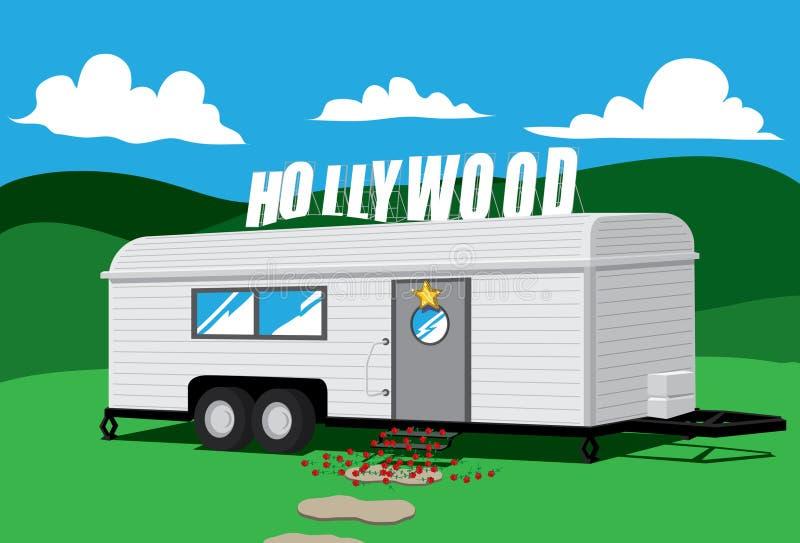 Acoplado de Hollywood ilustración del vector