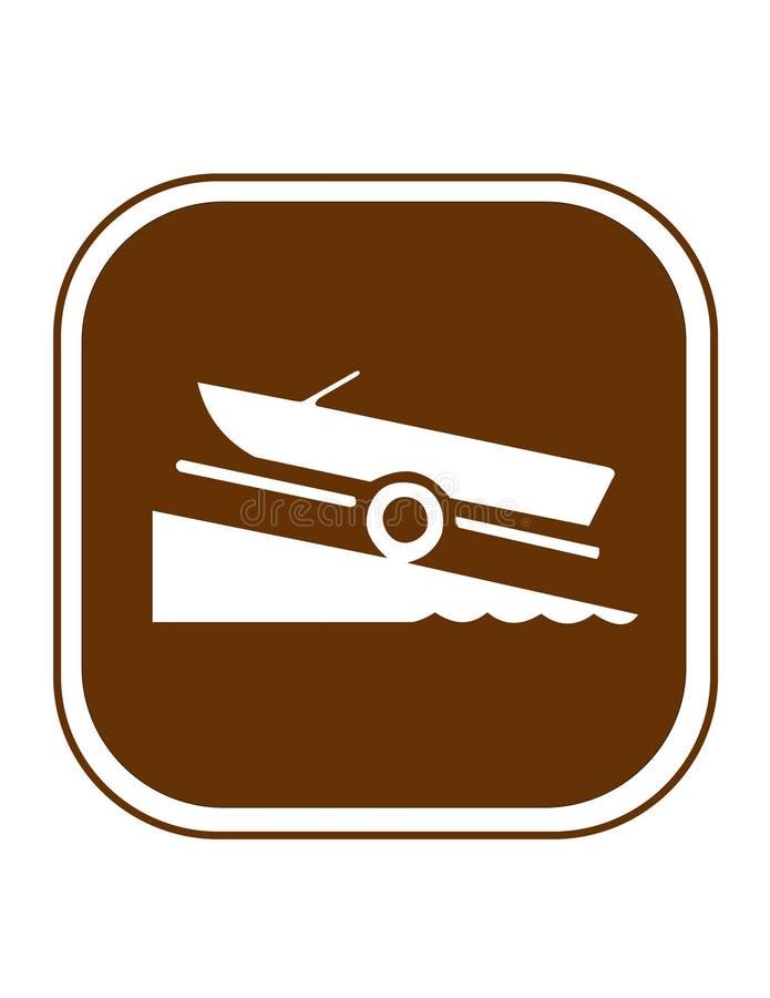 Acoplado de la rampa del barco stock de ilustración