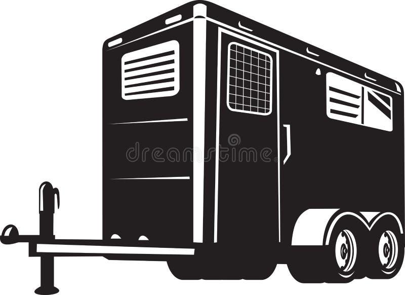 Acoplado del caballo visto de ángulo inferior ilustración del vector