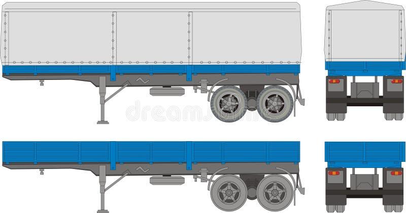 Acoplado del transporte ilustración del vector